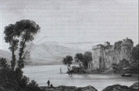 linlithgow palace, the birth place of mary queen of scots [&] sunrise; water mill, foot of ben ledi, highlands by john wilson ewbank